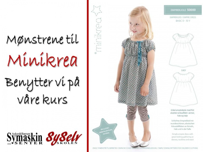 072e58eecea2 Minikrea 50000 mønster på empiriekjole str 0-10 år - Asker og Bærum ...